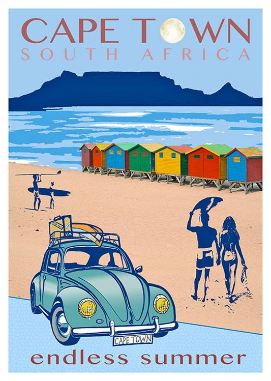 African Vintage Poster Available At 45x32cm And 50x70 This