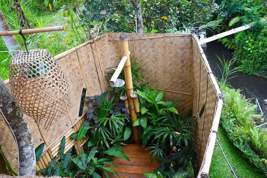 ห องน ำเอาท ดอร Bamboo House Design Outdoor Bathroom Design Outdoor Bathrooms