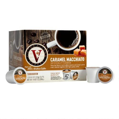 One of my favorite discoveries at ChristmasTreeShops.com: Victor Allen's® Caramel Macchiato Coffee Pods, 42-Count