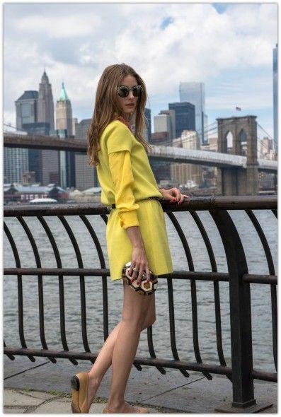 30a1ce0aa818 Olivia Palermo wearing Kate Spade New York Dawn Dress in Moonshine bazooka  pink Rafe Lizelle Oval Minaudiere Wunderkind Turquoise Ocelot Sunglasses New  Yok ...