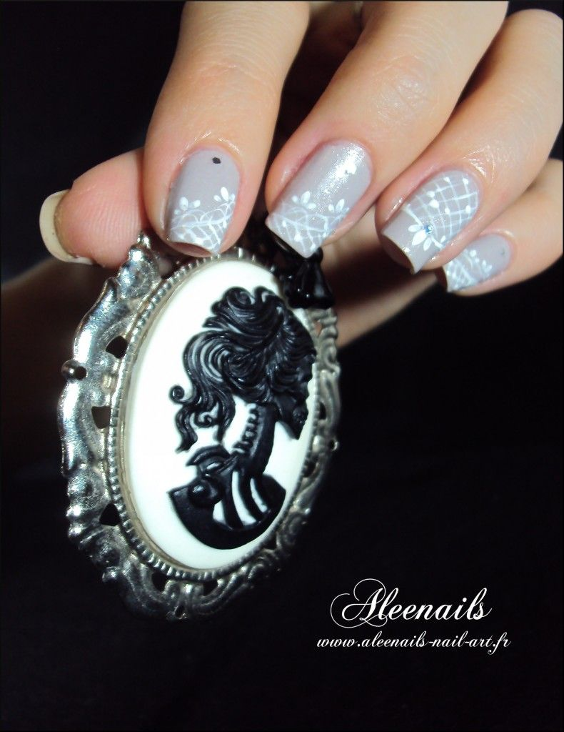 Aleenailsnailartdentelleblanche nail art pinterest