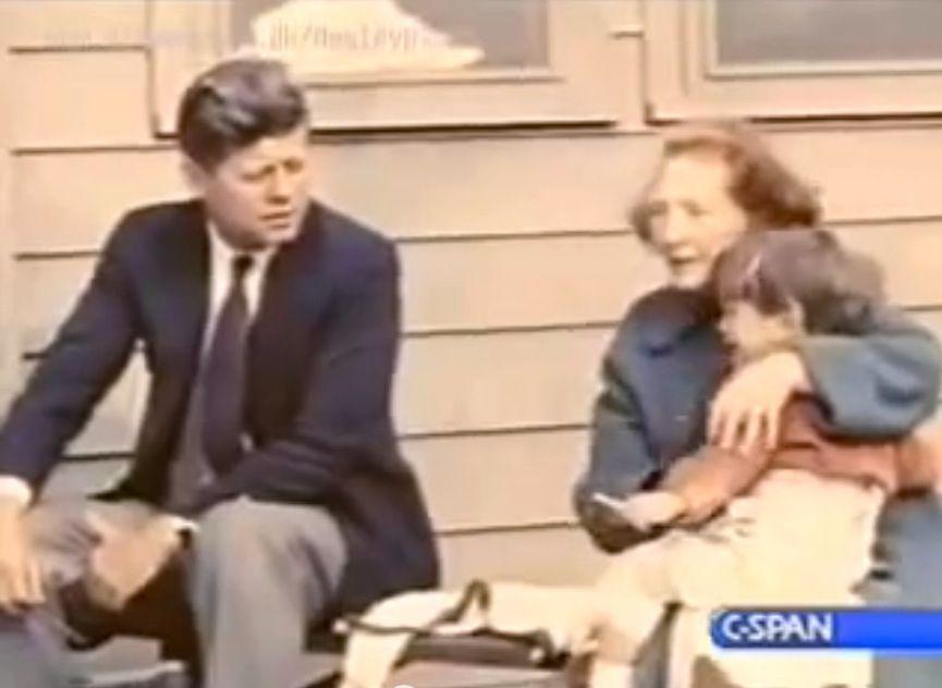 JFK, Maud Shaw and JFK jr.