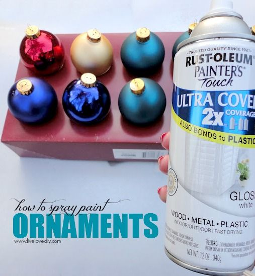 How to spray paint old Christmas ornaments any color you want ...