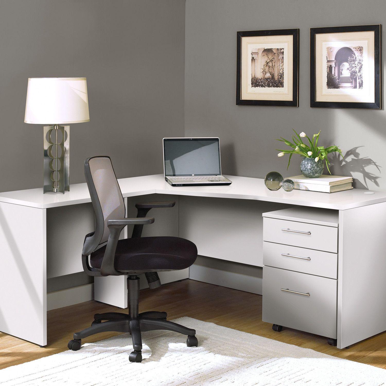 Jesper Office Corner Desk With Mobile Pedestal Wayfair 990