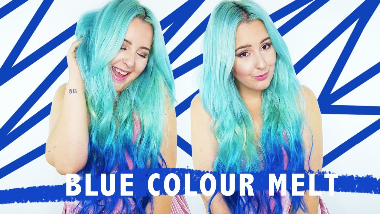 How To: Blue Colour Melt Hair Tutorial! | by tashaleelyn
