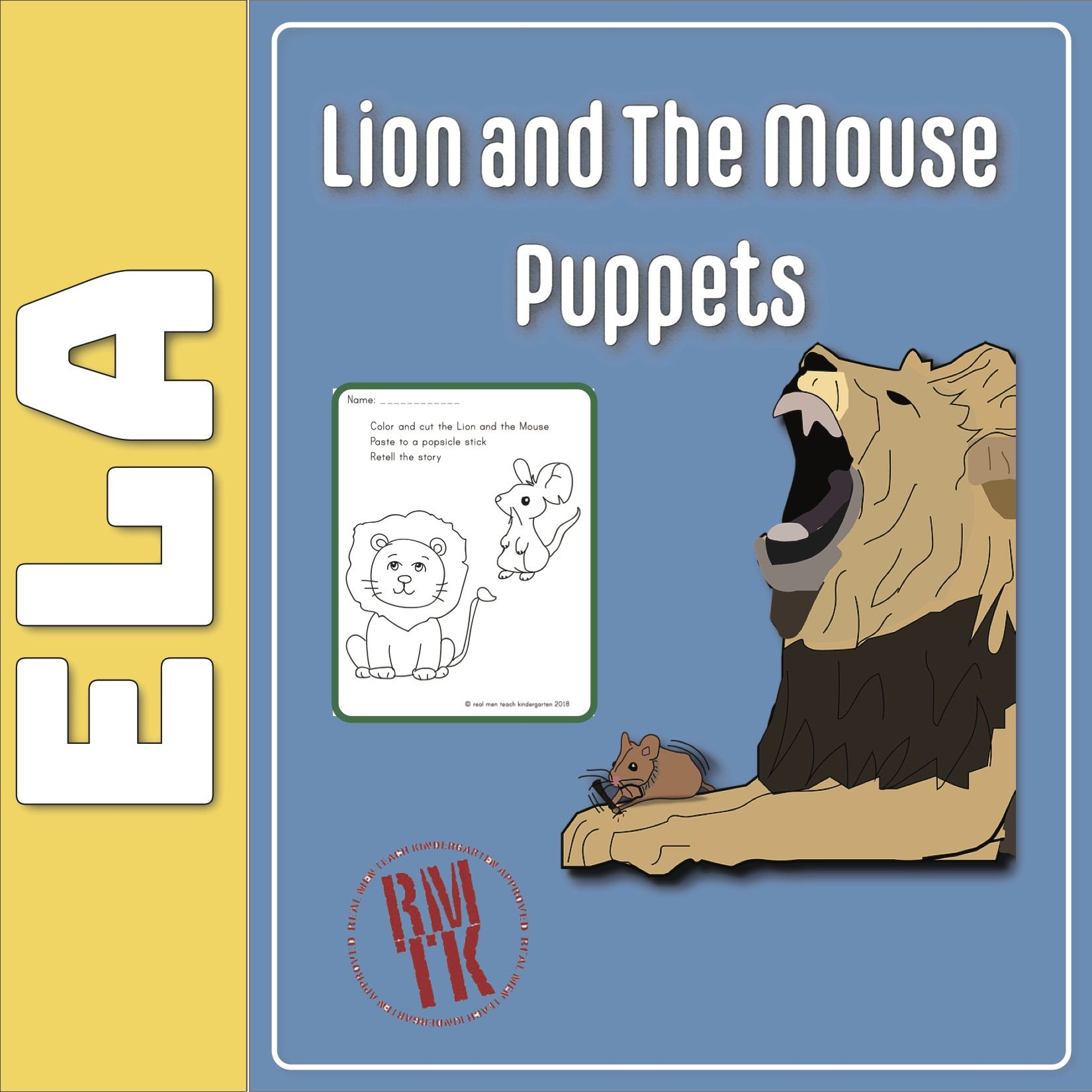 Lion And The Mouse Puppets