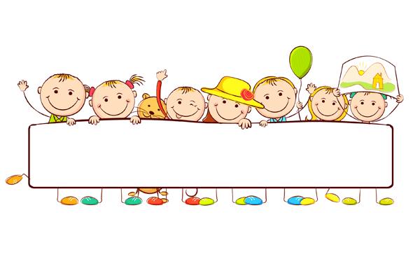 Niños con pancarta de cumpleaños | creativo | Niños, Imprimir sobres ...