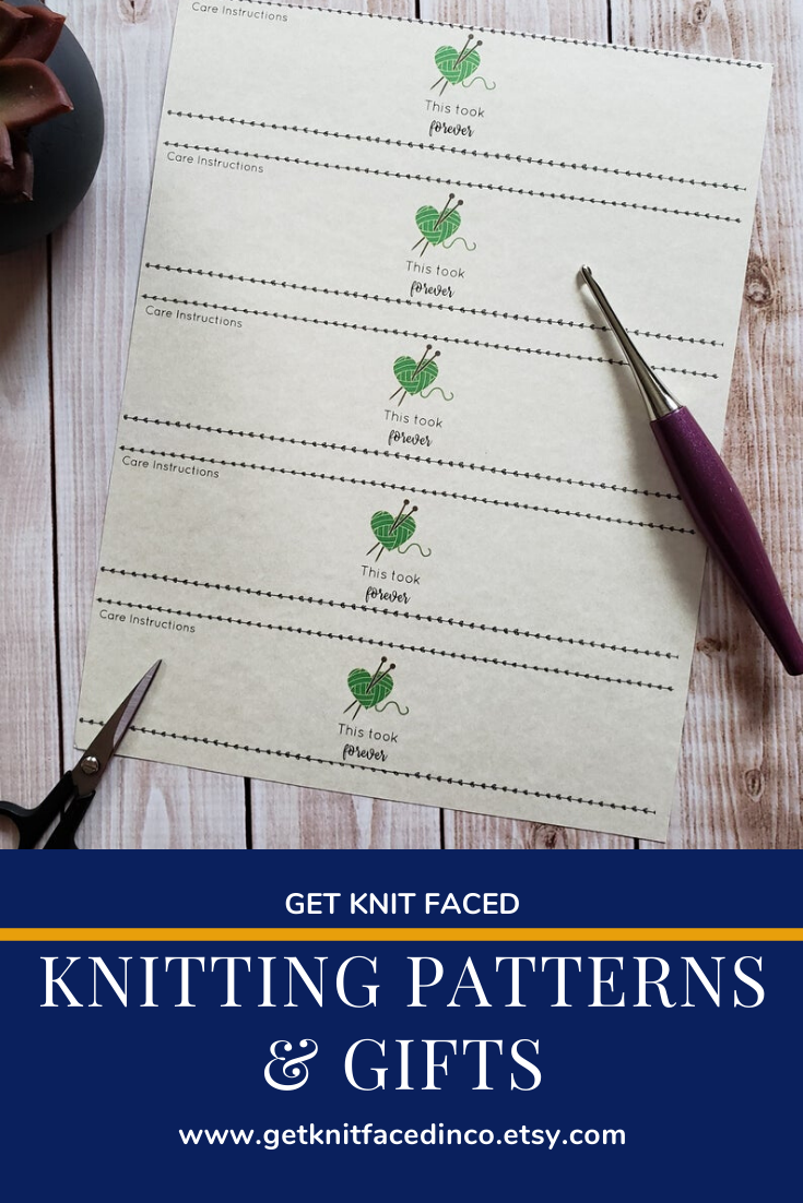 This Took Forever Knitting Quote Dish Cloth Wrap Pdf File Only Printable Knitting Label Instant Download Knitting Labels Knitting Quotes Knitting