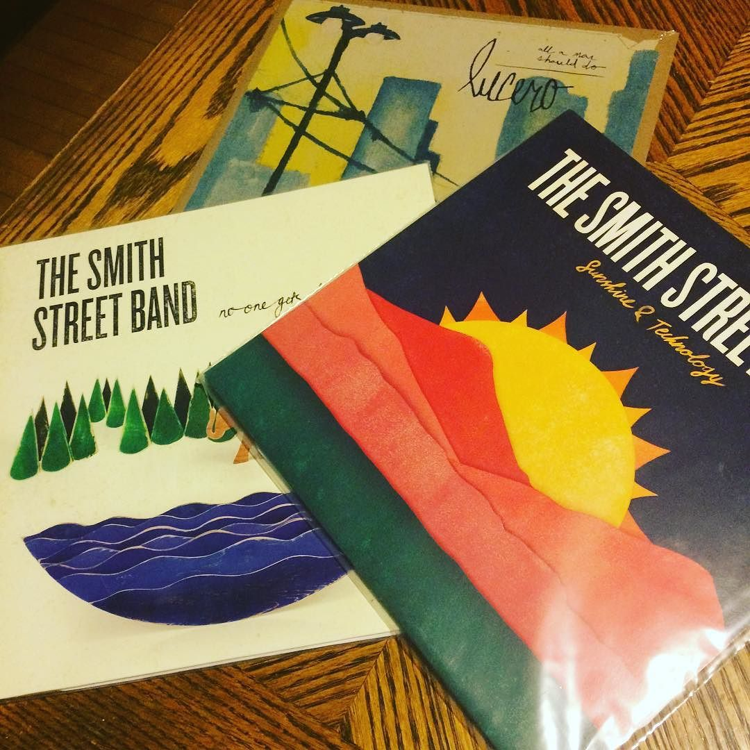 Newest additions to the collection #thesmithstreetband  #lucero #vinyl #sadsongs by show_your_bones