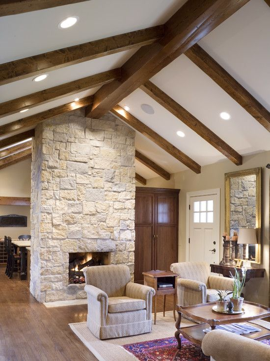 Traditional Living Room Stone Fireplace Design Pictures Remodel Decor And Ideas Page Cottage Style House Plans Country House Design Farm House Living Room