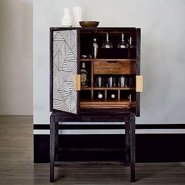 Mid Century Bar Cabinet Small West Elm Home Bar Cabinet Bar