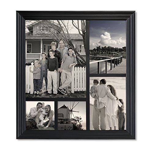 Furnistars Decorative Black Wood Wall Hanging Collage Picture Frame