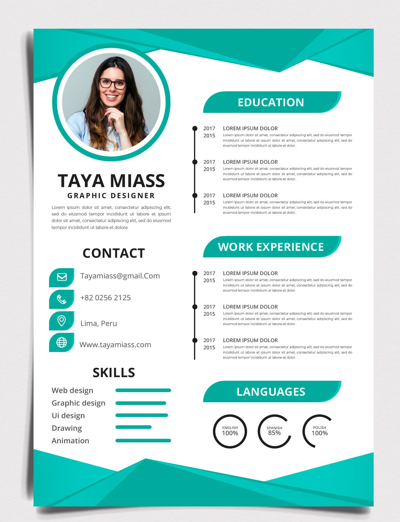 I will provide you a professional resume Web design