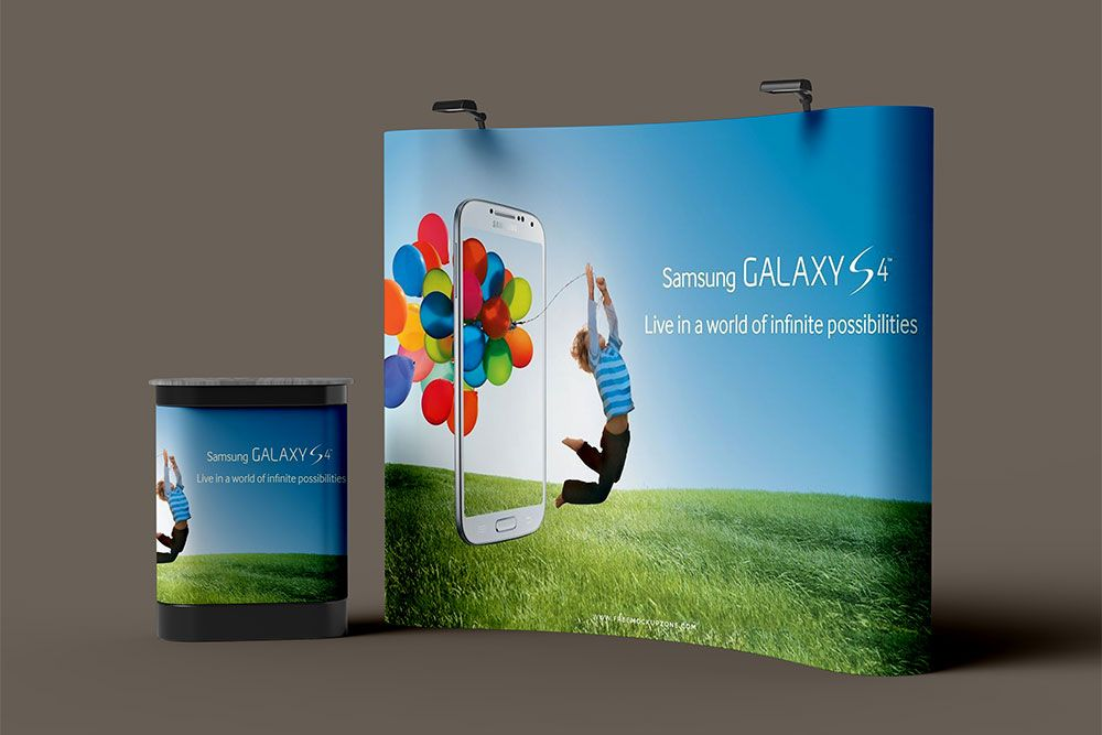 Exhibition Stand Mockup Psd Free : Free psd trade show booth mockup #psd #trade #show #booth #mockup