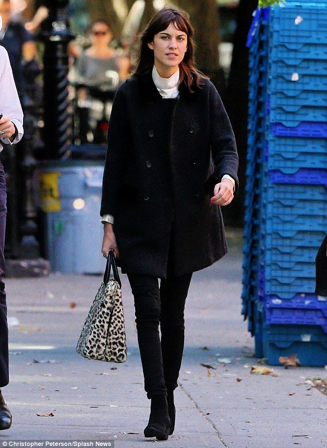 Alexa Chung Returns Home To New York After London Fashion