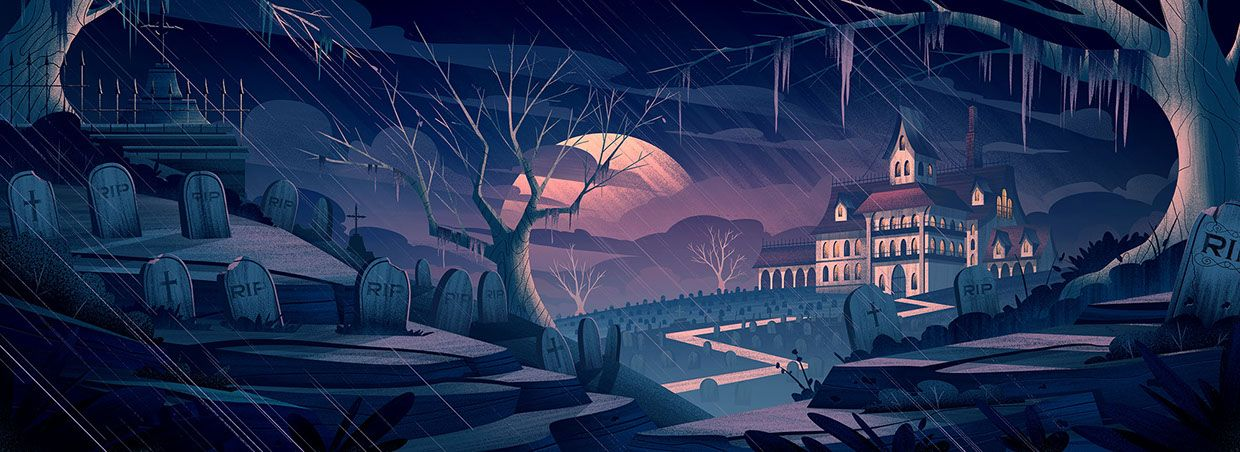 2015 Background illustrations for The Umbrella Factory