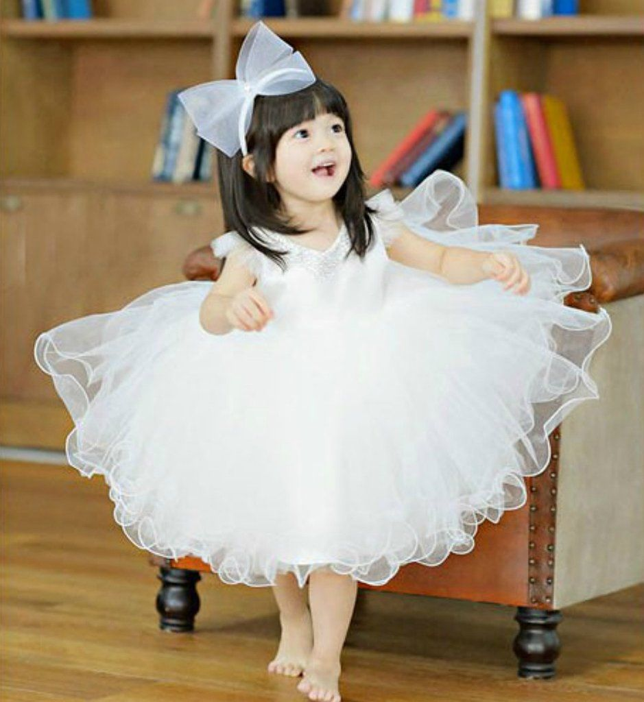 Best dress to wear to a baptism  Sweetheart Neckline Curly Dress  Baby girl party dresses