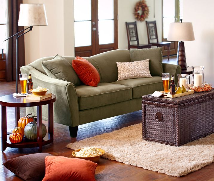 glamorous pier one living room | The glam Pier 1 Sage Abbie Sofa combines elegant lines and ...