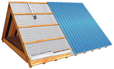 Installing Metal Roofing Over Plywood In 2020 Metal Roof Insulation Metal Roof Roof Insulation