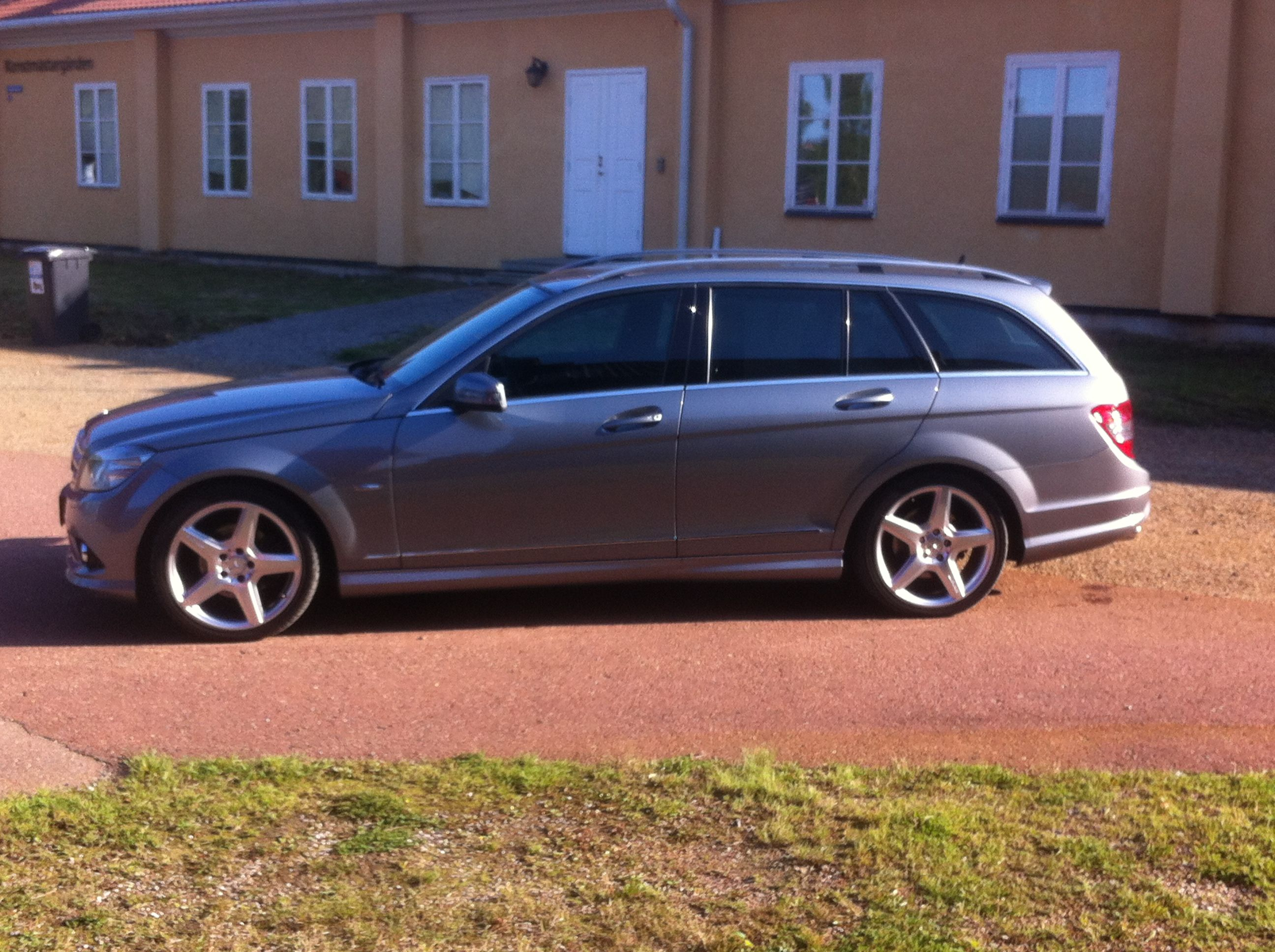 My old W204 Mercedes C220 CDI on 19inch AMG fivespokes