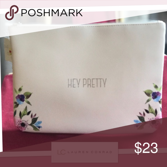 Lauren Conrad Monogrammed Cosmetic Bag. Monogram