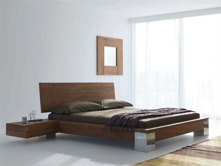 contemporary bed frame i like the stainless steel legs at the front