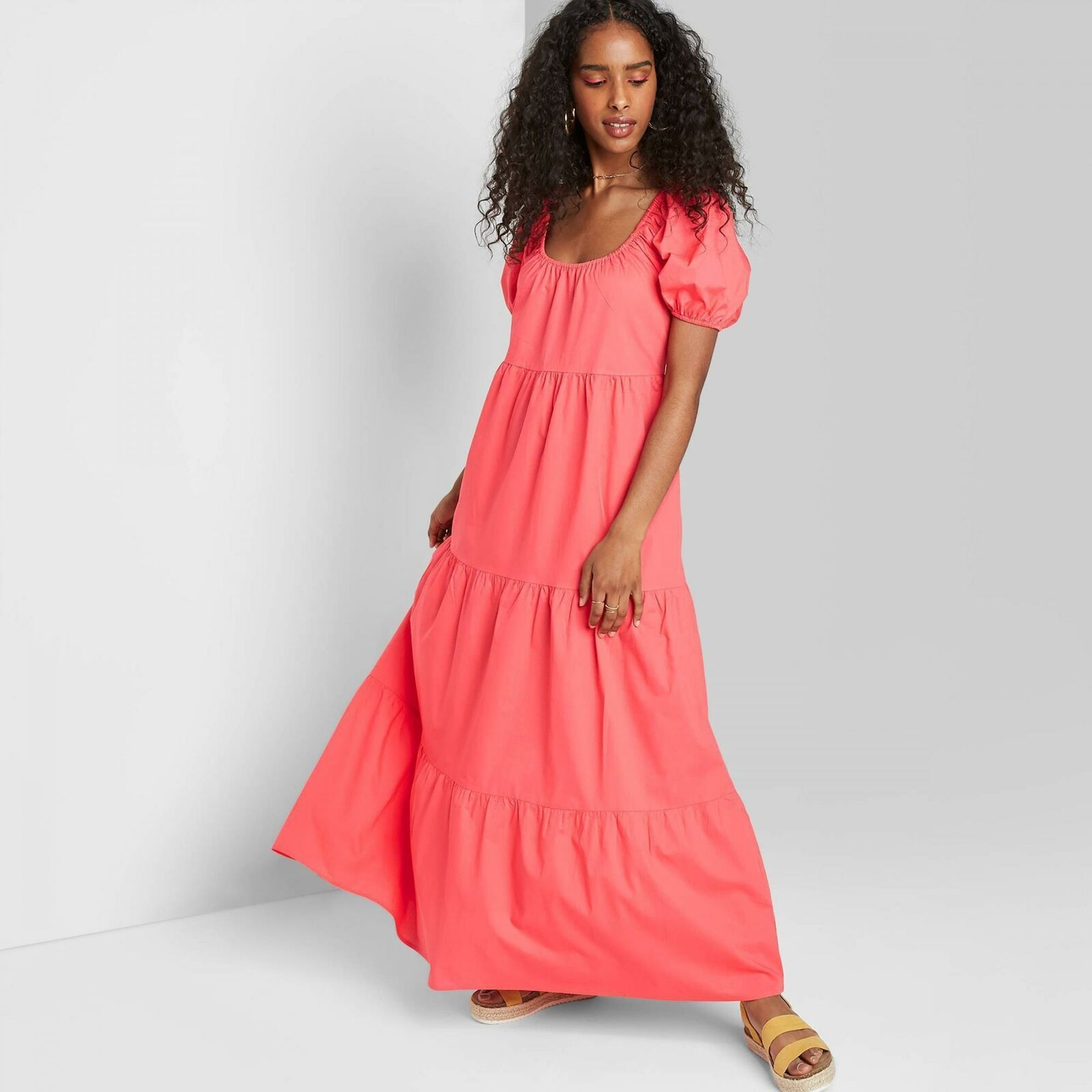 Wild Fable Women S Short Sleeve Tiered Poplin Maxi Dress In 2021 Tiered Dress Pattern Coral Maxi Dresses Maxi Dress [ 1600 x 1600 Pixel ]