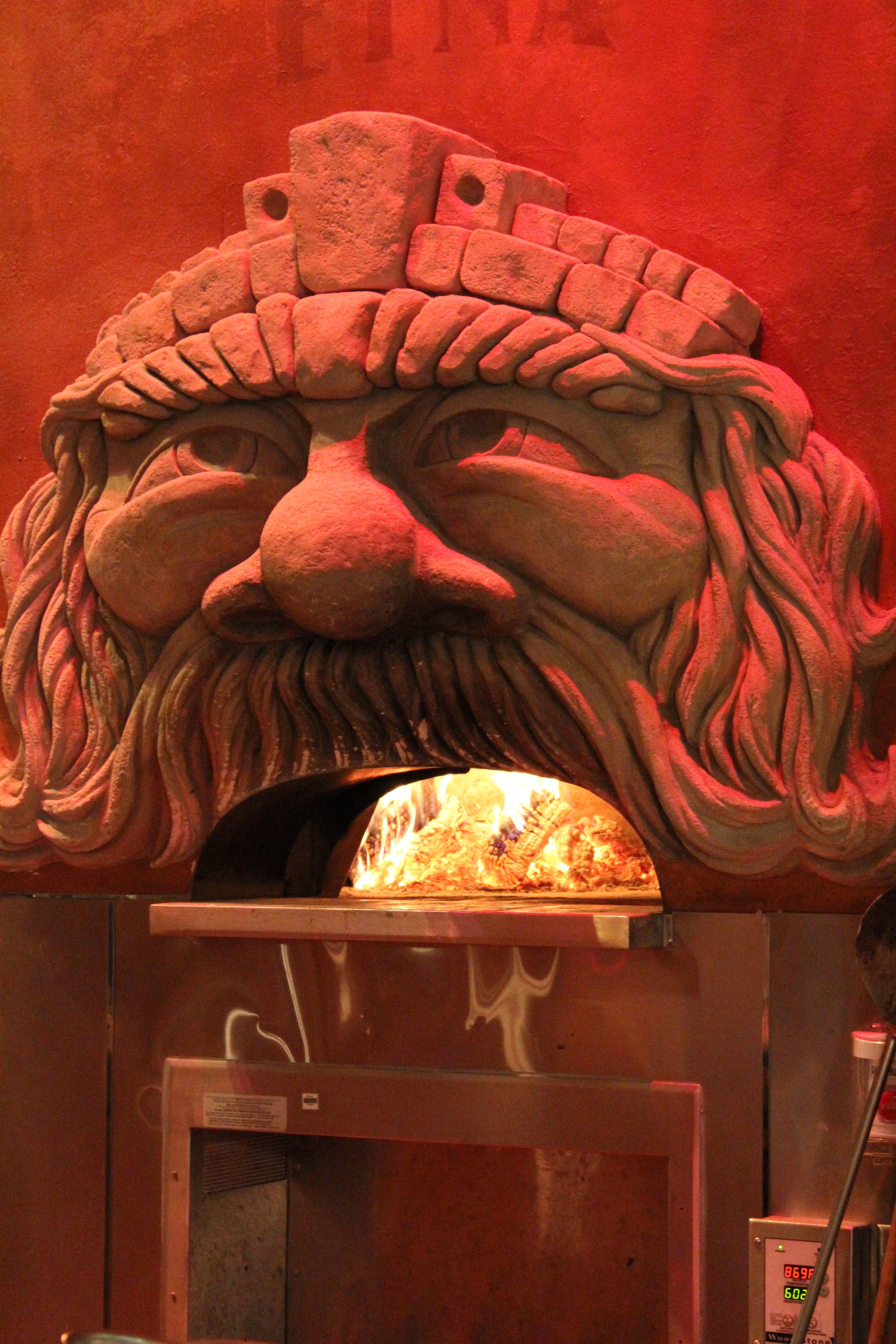 Pizza oven, Via Napoli, Epcot. AMAZING food! Abe & I loved it ...
