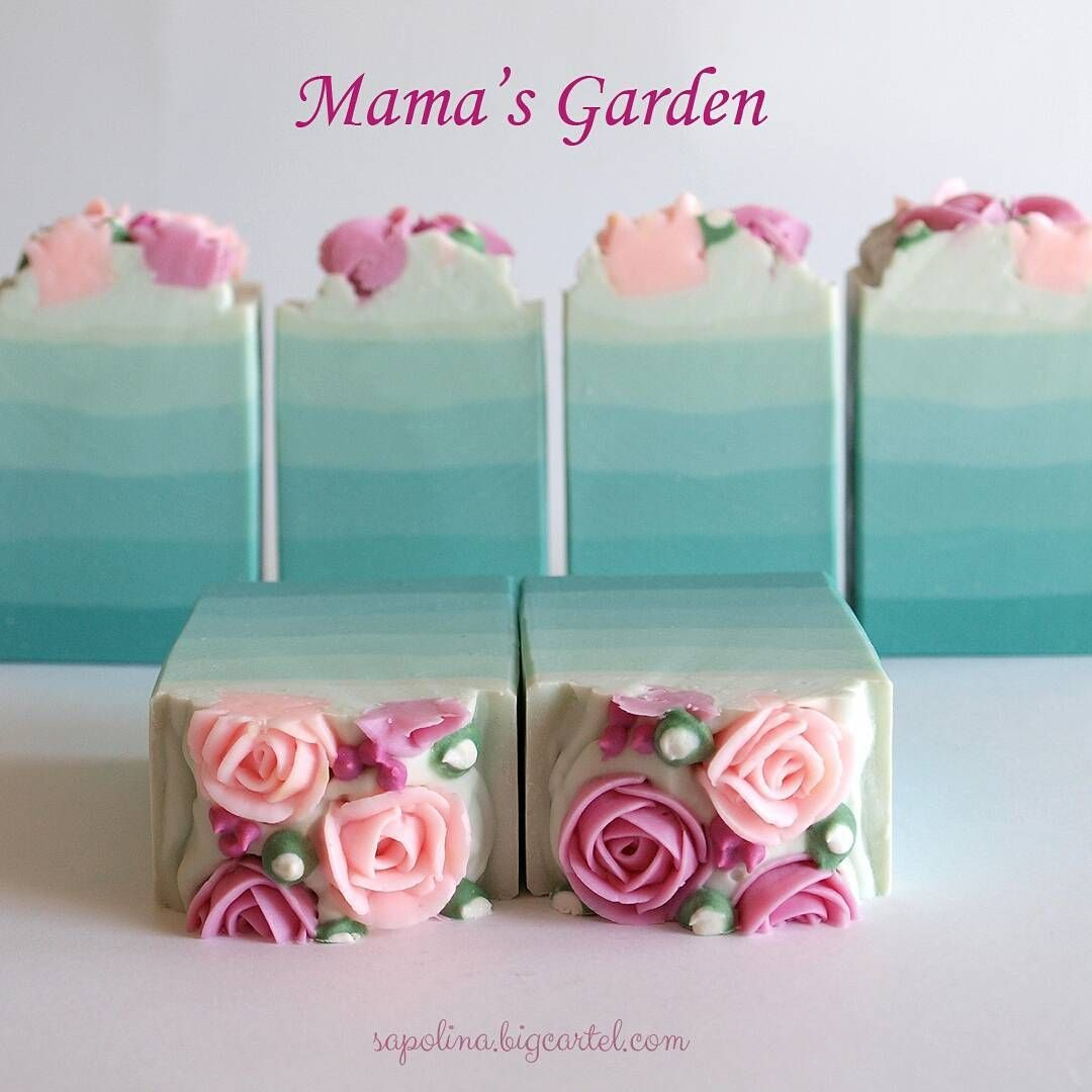 Mama S Garden Special Edition Soap Sapolina Sapolinasoaps Handmadesoap Bigcartelstore Cpsoap Soaplove Soapart Pipedroses Pipedsoap Handmade Soaps Cupcake Soap Soap Packaging