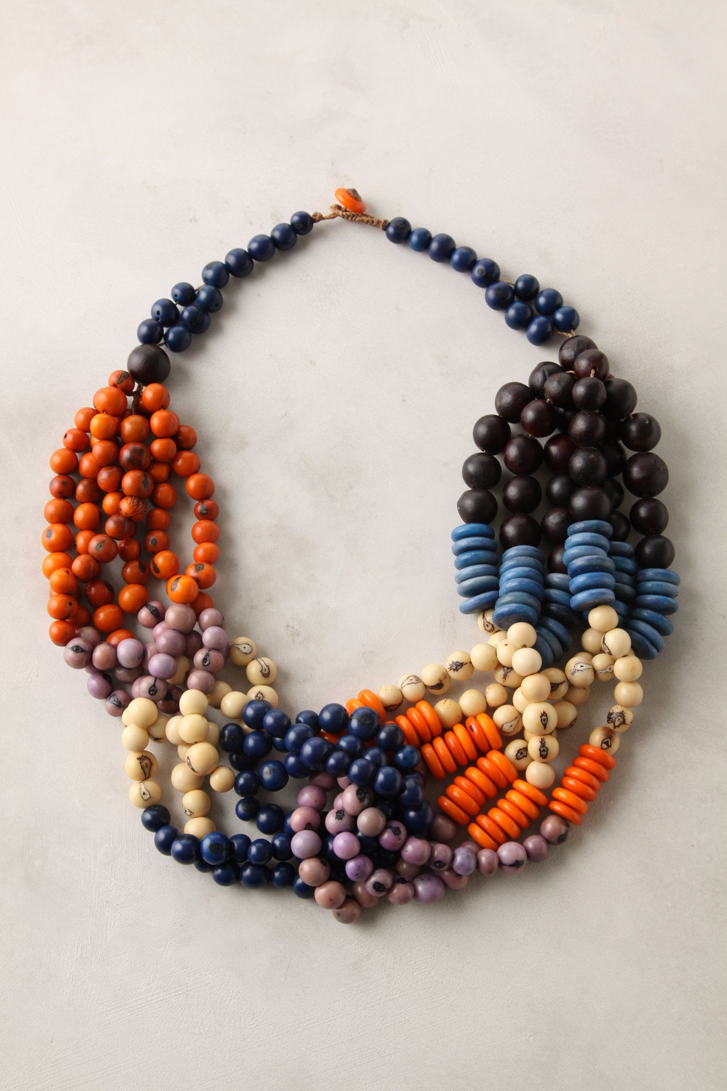Mayoria Necklace #Anthropologie  Natural and wood bead necklace