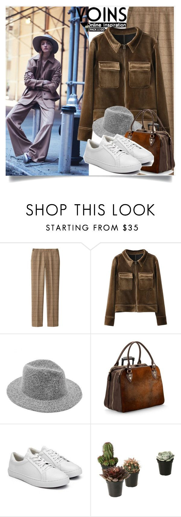 """""""Yoins:The nineties"""" by yoinscollection ❤ liked on Polyvore featuring Uniqlo and Aspinal of London"""