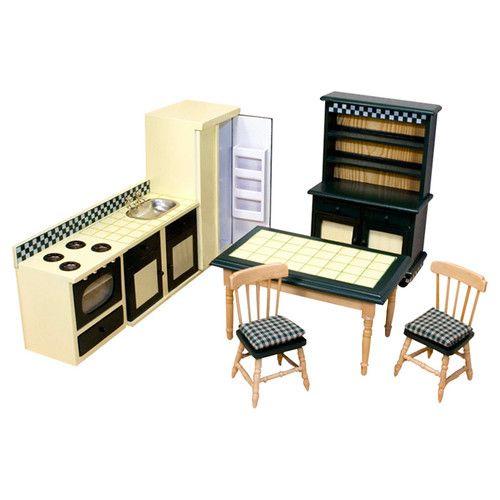 Dollhouse Kitchen Furniture Dollhouse Kitchen Furniture Dollhouse Kitchen Wooden Dollhouse