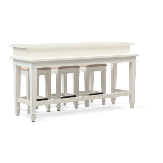 Waverly Sofa Table And 3 Stools Cheap Living Room Furniture Sofa Table Furniture