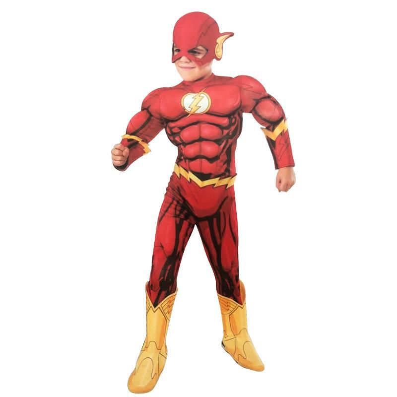Rubies Official DC Superhero The Flash Deluxe Childs Costume Childs Size Small Age 3-4 Years