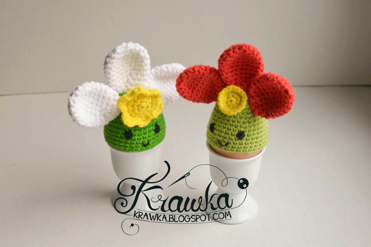 Krawka: Spring flower - Easter egg cozies - Free crochet Pattern to ...
