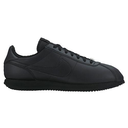 quality design 097d9 781eb Nike Cortez Basic Leather  06 Mens 316418-018 Black Running Shoes Size 7.5  for sale online   eBay