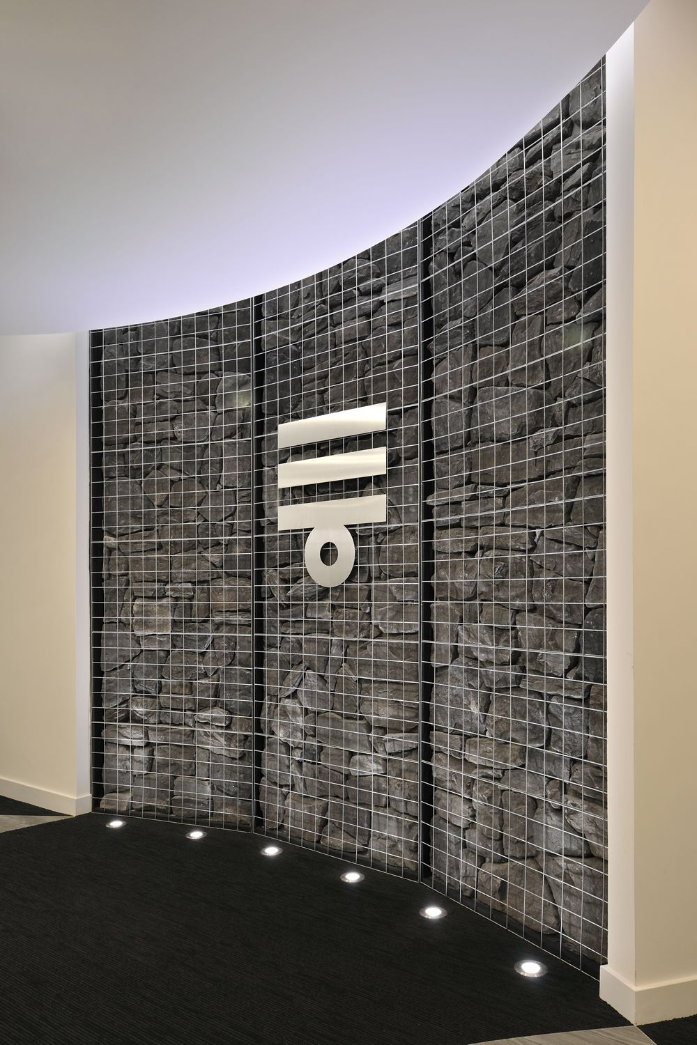 office feature wall. A Cool Feature Wall At Mizkan Using Natural Materials. Office
