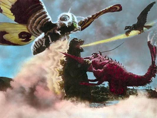 Mothra, Godzilla, Ebirah, and the giant condor.