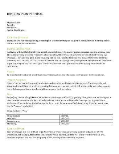 Free Proposal Templates by Hloom Project proposal Pinterest - Sample Contract Proposal Template