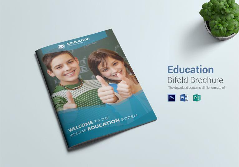 Education Bi Fold Brochure Template School Brochure Free Brochure Template Education Brochures