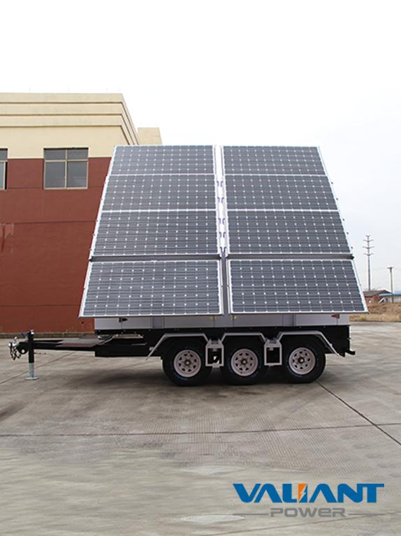 Mobile Solar Trailer Vts2400c Product Feature 1 8 325w Solar Panels 2 12x150ah 16x150ah Gel Batteries Dc48v System 3 Op Solar Panels Solar Panel Cost Solar