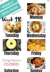 Easy Weekly Meal Plan Week 110 images