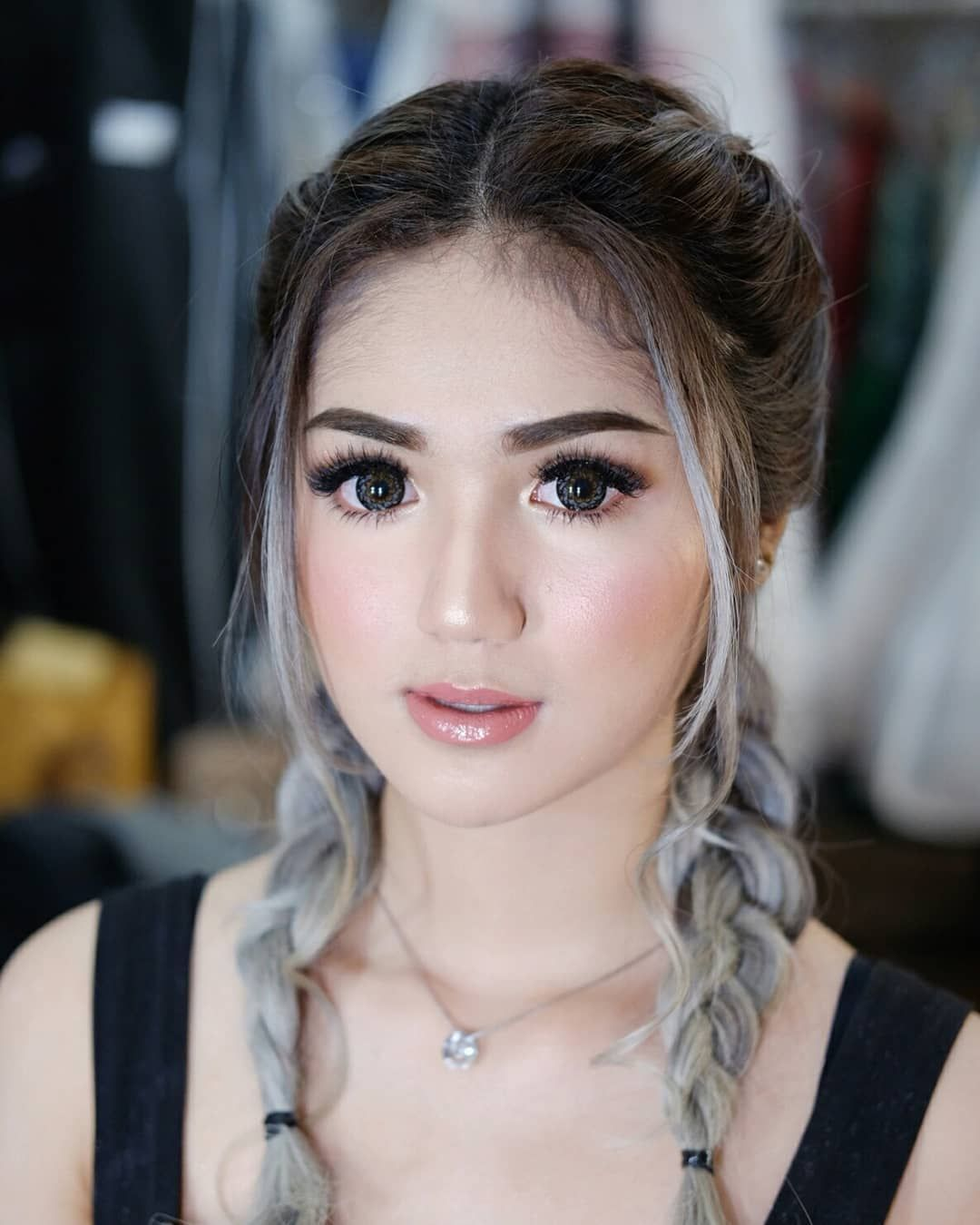 Barbie Hnxtasia She Use Eyelash Extension Hdo Fitri Nov Hairstylist Mua Muasemaranghits Muasemaran Wedding Day Makeup Pre Wedding Makeup Flawless Makeup