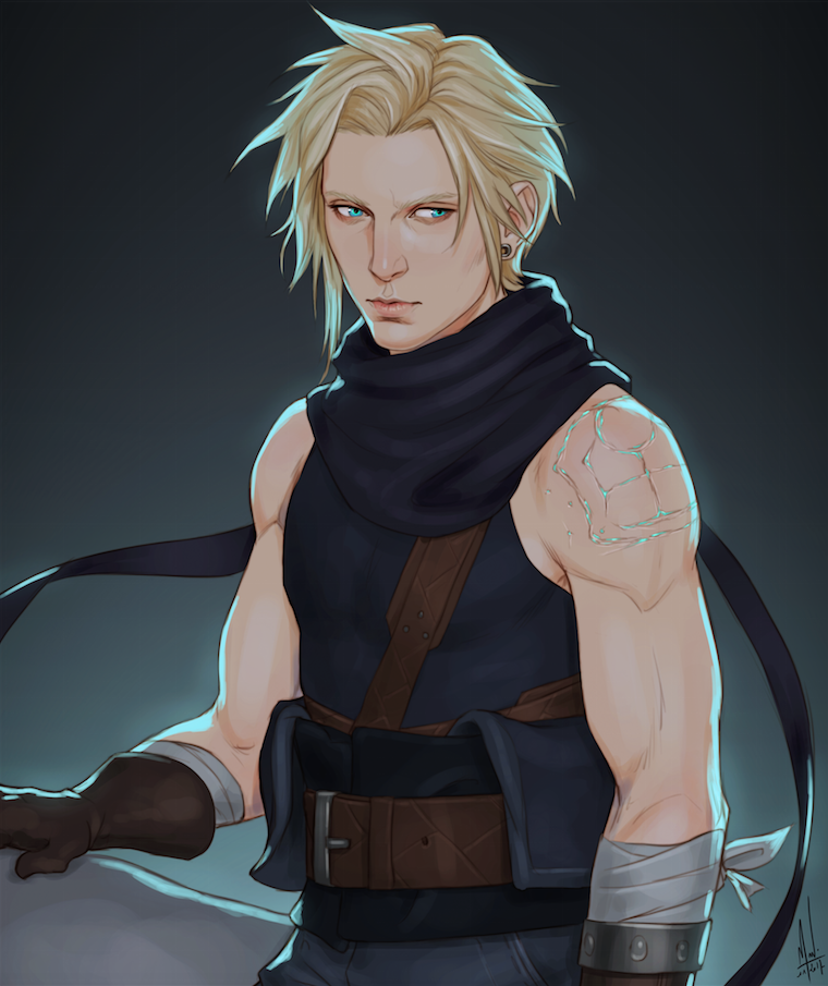 I Little Redesign On My Boy Cloud Because I Miss Him So So Much And It S Super Hard To Redesign Something That Cloud Strife Digital Artist Final Fantasy Vii