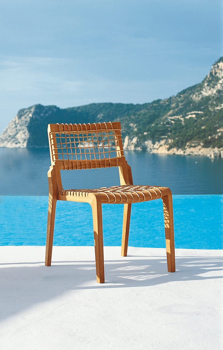 Sedie Da Giardino Unopiu.Chair Synthesis Teak Waprolace Unopiu Unopiu Outdoor Design