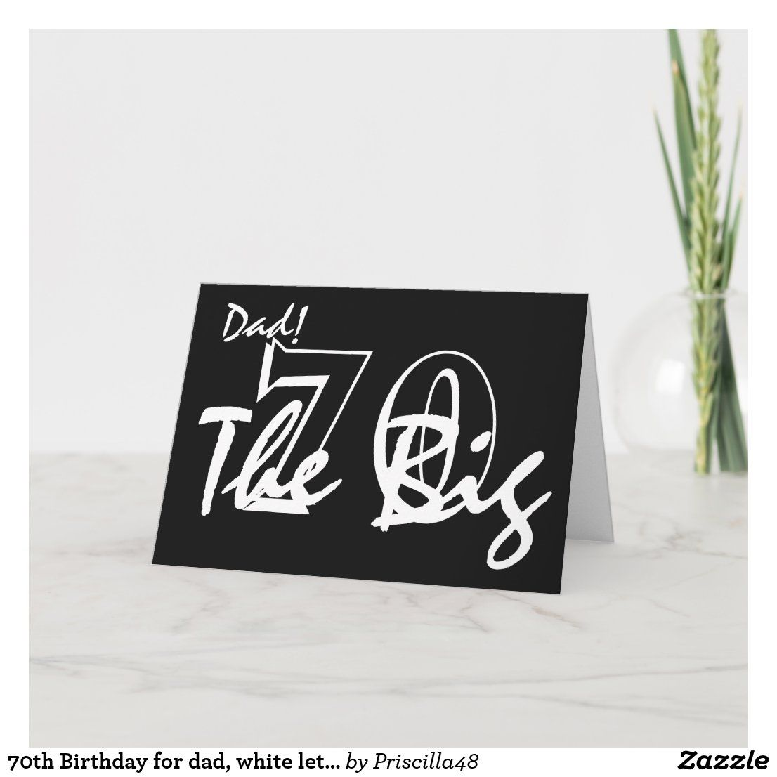 Handmade 70th Male Birthday Card Dad Personalised With Any Age And Message 60th Birthday Cards 70th Birthday Card Birthday Cards For Men