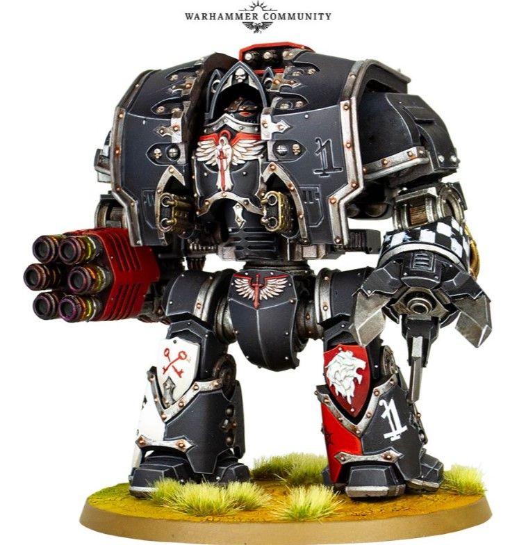 Warhammer 40k Space Wolves Dreadnought Murder Plates Bits