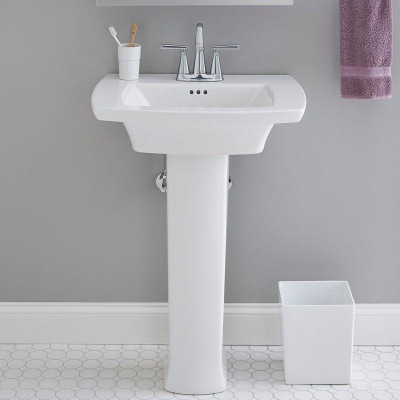 Edgemere Rectangular Pedestal Bathroom Sink With Overflow Sink Pedestal Sink Bathroom Sink Tops
