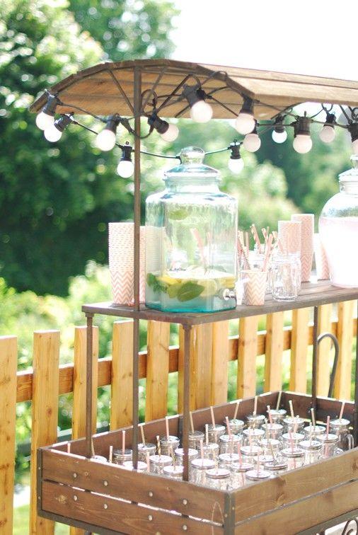 location charrette de pr sentation bar limonade mariage champ tre boh me chic rustique. Black Bedroom Furniture Sets. Home Design Ideas