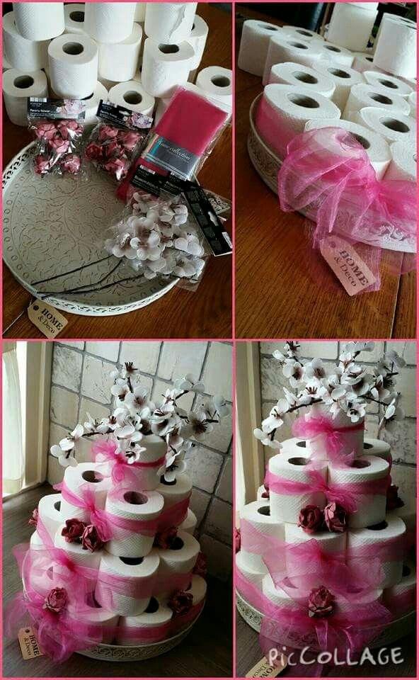Bruidstaart Van Toiletpapier.Wc Rollen Taart Verjaardagsideeen Ideeen Voor Cadeaus En
